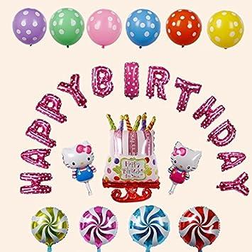 hilai Bonjour Kitty Multicolor Letras Feliz Cumpleaños ...