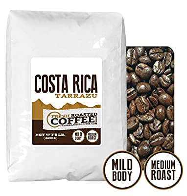 Costa Rica Tarrazu, Whole Bean, Fresh Roasted Coffee LLC
