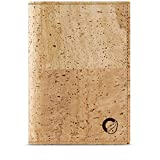 Corkor Passport Wallet for Men & Woman | RFID Blocking Vegan Cork Light Brown Cork