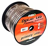 DEEJAY LED 4 Gauge Pure Copper Interconnect Cable, 100', Black - TBH4100BLKCOPPER