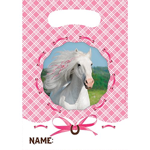(Creative Converting Heart My Horse Plastic Loot Bags (8 Count))