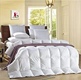 Luxury White Goose Feather & Down Duvet Quilt - 13.5 Tog Double Size - 100% Cotton Anti Dust Mite & Down Proof Fabric
