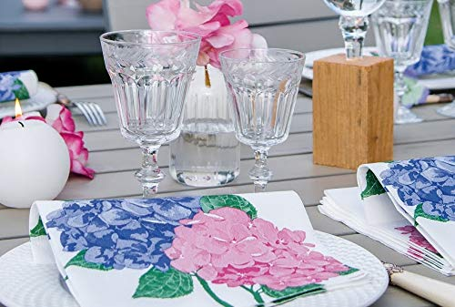 Dinner Napkins Easter Napkins Paper Linen Napkins with Feel of Cloth Napkins Decorative Wedding Mothers Day Etc Hydrangea Party Napkins 8 x 8 Pack of 20