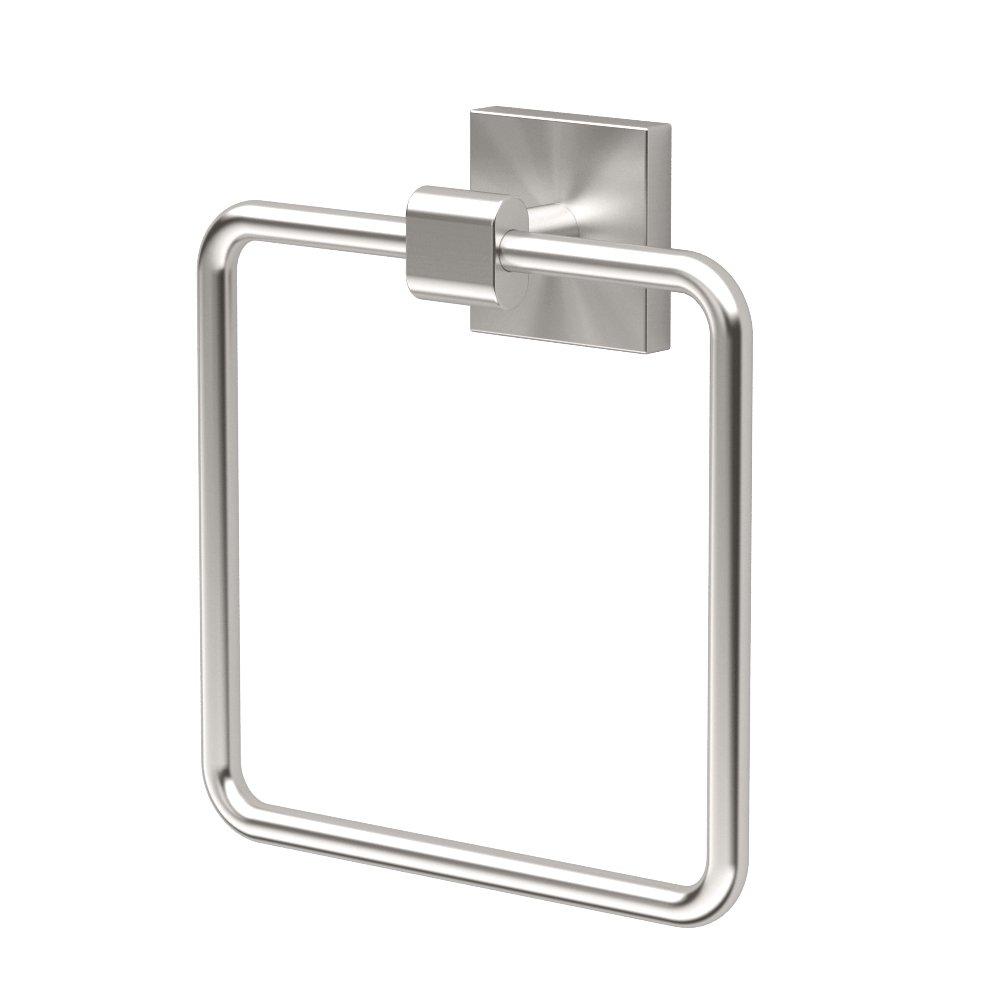 Gatco 4072 Elevate Towel Ring, Satin Nickel