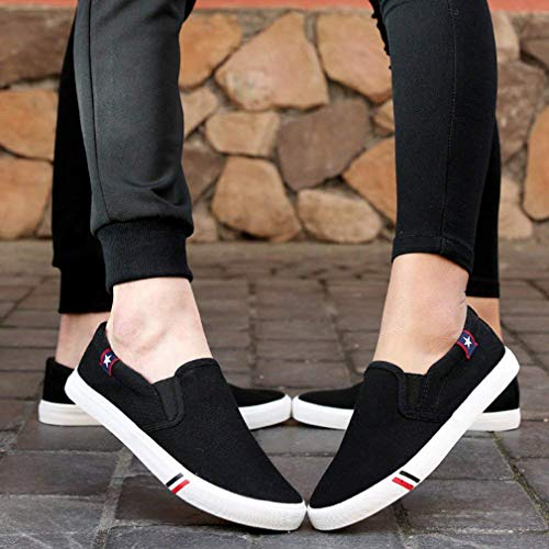 Canvas Color Trainers Solid Men Slip Shoes Women Trainers Casual on Yying Sports Shoes Classic Black Loafers x8IFxA