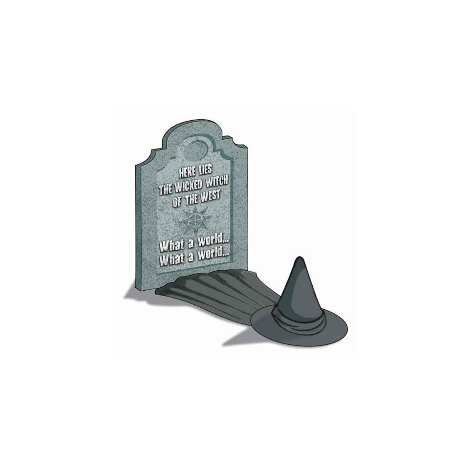 Wizard of Oz Wicked Witch of the West 24 Tall Tombstone Halloween Prop Decoration