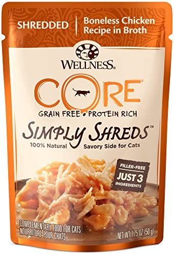 Wellness Core Simply Shreds Grain Free Wet Cat Food Mixer Or Topper Case Of 12