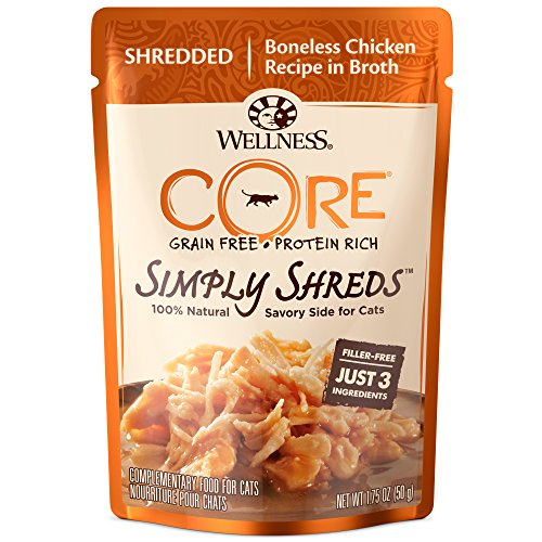 Wellness Core Simply Shreds Grain Free Wet Cat Food Mixer Or Topper, Shredded...