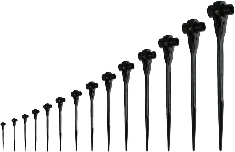 2 PCS Doppelsteckschl/üssel Ratschenschl/üssel Ger/üstschl/üssel 17 19mm /& 19 24mm