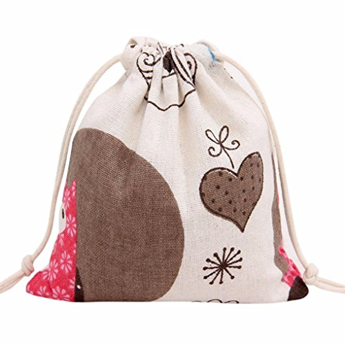 [Gift Bag,Elevin(TM)Fashion Women Ladies Girls Printing Drawstring Beam Port Storage Bag Travel Backpack Bag Gift Bag,You could use them for Christmas Party, New Year Bags (L,] (Barbie Costume Makeup)