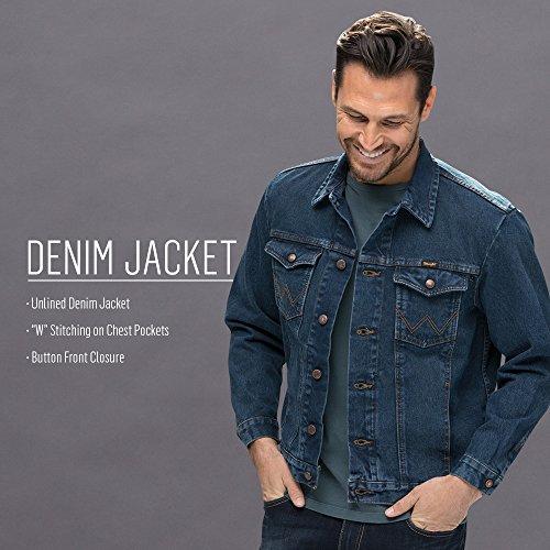 Mid Wrangler Jacket Denim Style Western Tint Men's rXWqPXaA