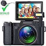 SEREE Digital Camera Full HD 1080p Camcorder 24.0 Megapixels 4x Digital Zoom 3 Inch LCD Screen Flashlight with Lens Cap