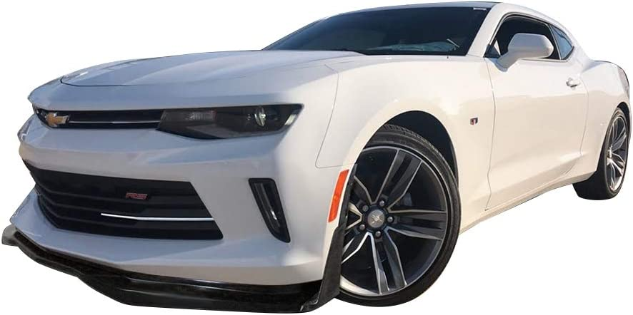Fits 16-18 Chevrolet Camaro SS AC Style Front Bumper Lip Unpainted PU