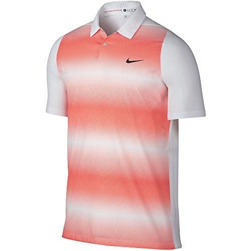 (Men's TW Velocity Max Sphere Stripe Golf Polo-803202-101-S)