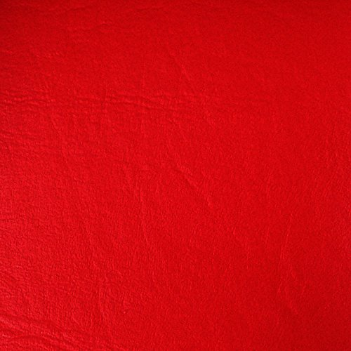 BurlapFabric.com Red Faux Leather Upholstery Fabric by The Yard 54