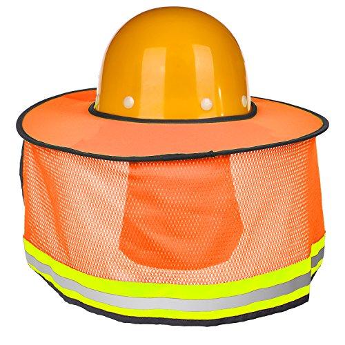 5955786d45bae Maxdot 2 Pack Hard Hat Sun Neck Shield Full Brim Sunshade for Hard Hats
