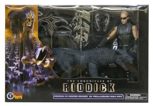 Riddick in Necro Armor with Hellhound Collectors Edition Boxed Set sota toys The Chronicles of Riddick
