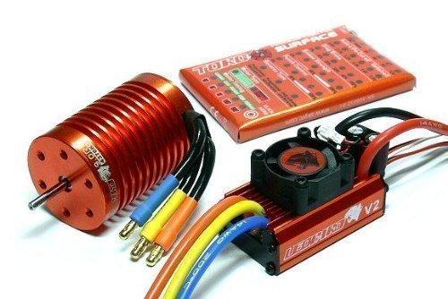 LEOPARD SKYRC 4370KV 9T Brushless Motor+60A ESC Speed Controller Combo ME720+SKYRC Full Version Apps Edition (1 10 Brushless Combo)