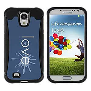 Be-Star único patrón Impacto Shock - Absorción y Anti-Arañazos Funda Carcasa Case Bumper Para SAMSUNG Galaxy S4 IV / i9500 / i9515 / i9505G / SGH-i337 ( Love Typography Heart )