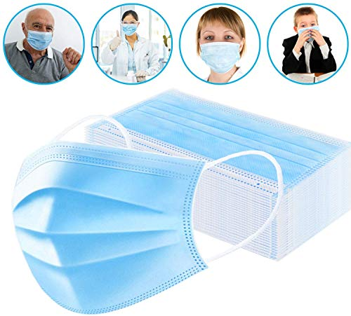 Masks for dust Protection,Medical Masks Disposable Face Masks with Elastic Ear Loop Disposable Dust & Filter Safety Mask (50 Pieces)...