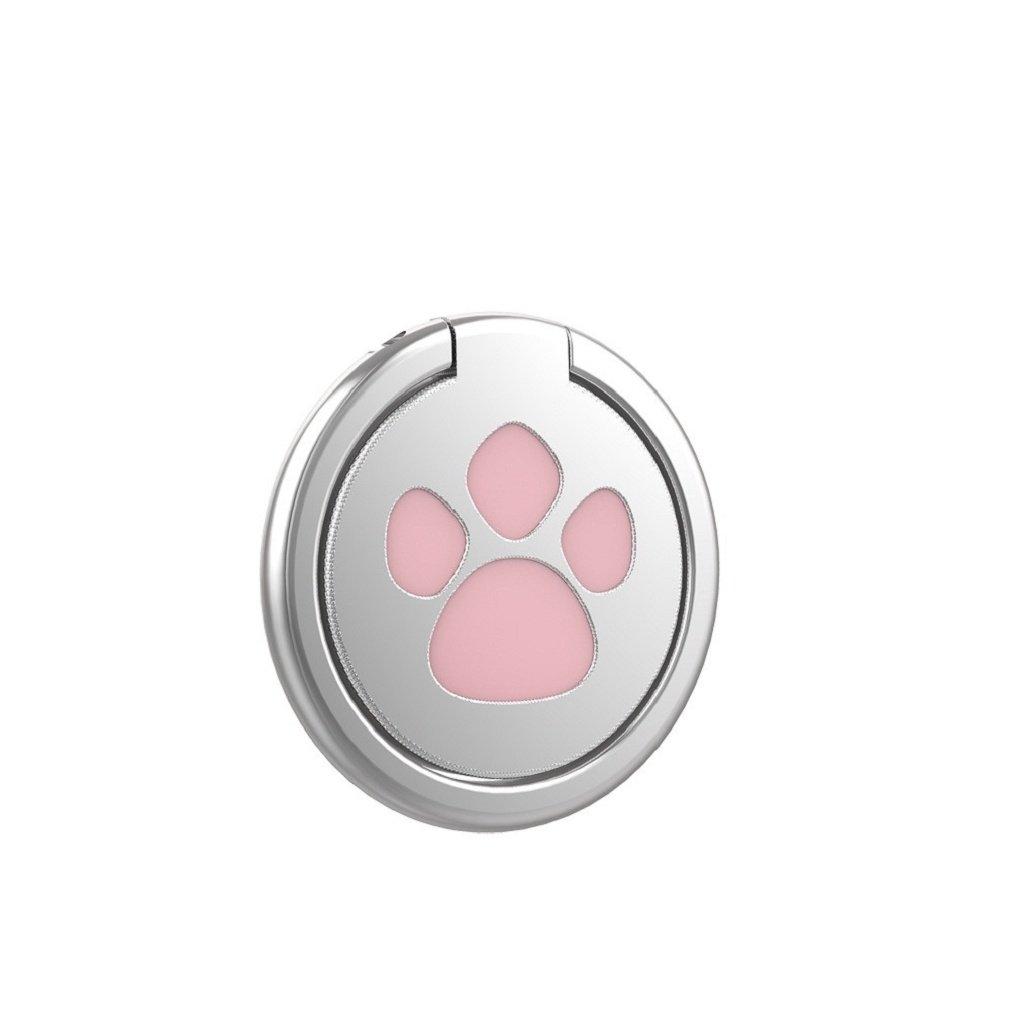 Ganenn Finger Ring Stand Holder, SUKEQ Amazing 360 Degree RotationFunny Cat Paw Finger Ring Stand Mobile Phone Holder for Smartphone (Pink) by Ganenn (Image #2)