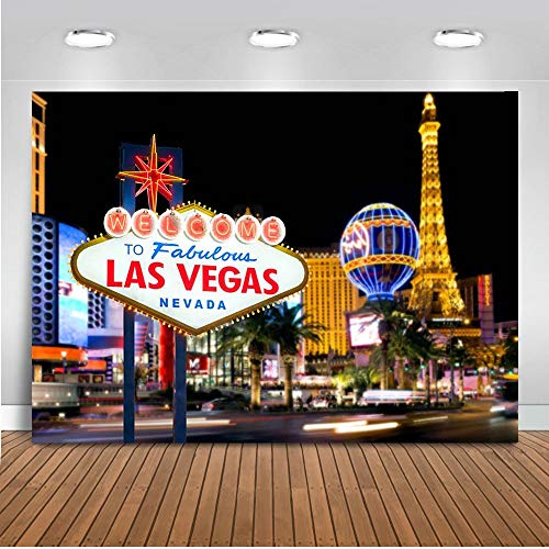 Vegas Themed Decorations - Mehofoto Welcome to Las Vegas Backdrop