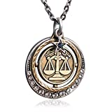 Libra Zodiac Sign Astrology Pendant Necklace - September and October Birthday Gifts …