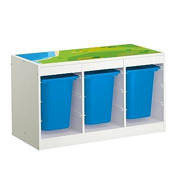 Kinderzimmer ikea trofast  Möbelaufkleber Spielwiese - passend für IKEA TROFAST Regal ...