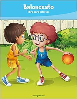Baloncesto libro para colorear 1: Volume 1: Amazon.es: Nick ...