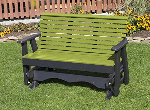 4FT-TROPICAL LIME GREEN-POLY LUMBER ROLL BACK Porch GLIDE...