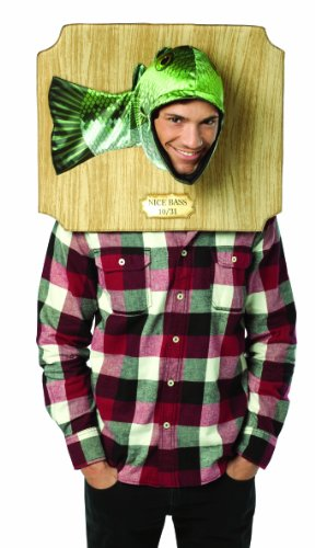 Funny Simple Mens Halloween Costumes (Rasta Imposta Nice Bass Trophy Costume, Green, One)