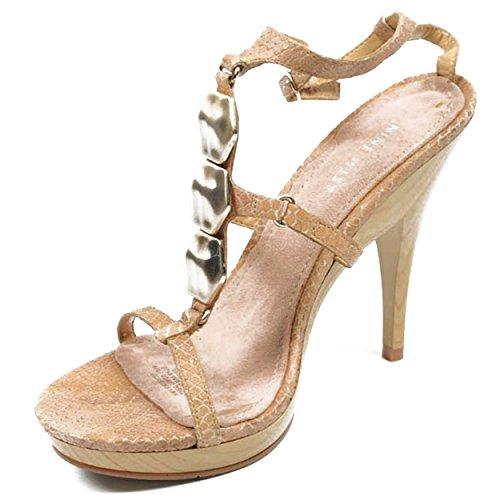 NINE WEST - Damen Knöchelriemen Sandale NWVENCENTIO DK NATURAL Hacke: 12.5 cm