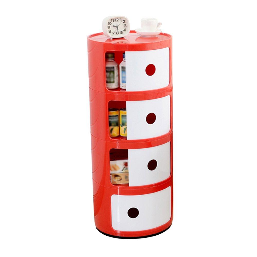 F Nightstands Plastic Lockers Bedroom Nightstand Round The Corner Cabinet Multifunctional Storage ( color   A )