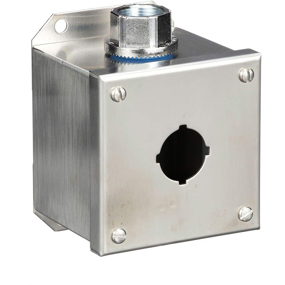 Pushbutton Enclosure; 1 Hole; 30mm; Stainless Steel; NEMA13; IP65; Harmony Series