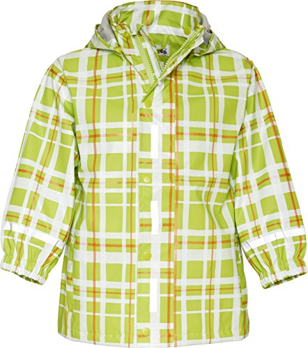 Playshoes Plaid Pattern Waterproof Hooded Rain Jacket (9-10 Years, - Raincoat Patterned