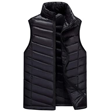 0a88a7371c8f9 Cdon Men s Sleeveless Warm Lightweight Down Vest Padded Jacket Puffer Vest  at Amazon Men s Clothing store