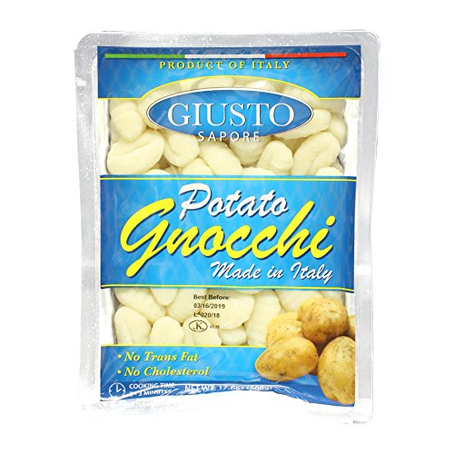 Giusto Sapore Italian Potato Gnocchi Pasta- 17.6oz - Premium Gourmet Brand - Imported from Italy and Family Owned