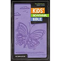 NIrV, Kids' Devotional Bible, Leathersoft, Lavender: Over 300 Devotions
