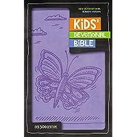 NIrV, Kids' Devotional Bible, Leathersoft, Lavender: Over 300 Devotions