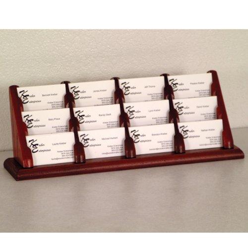FixtureDisplays 12 Pocket Countertop Business Card Holder 104146