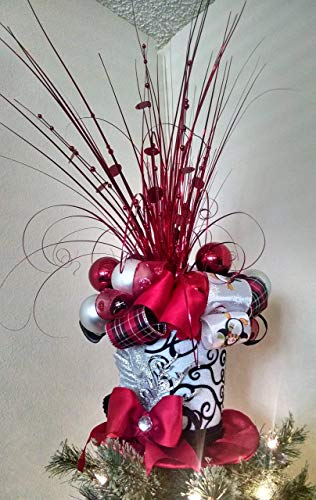 Amazon Com Top Hat Tree Topper Christmas Tree Topper Red And