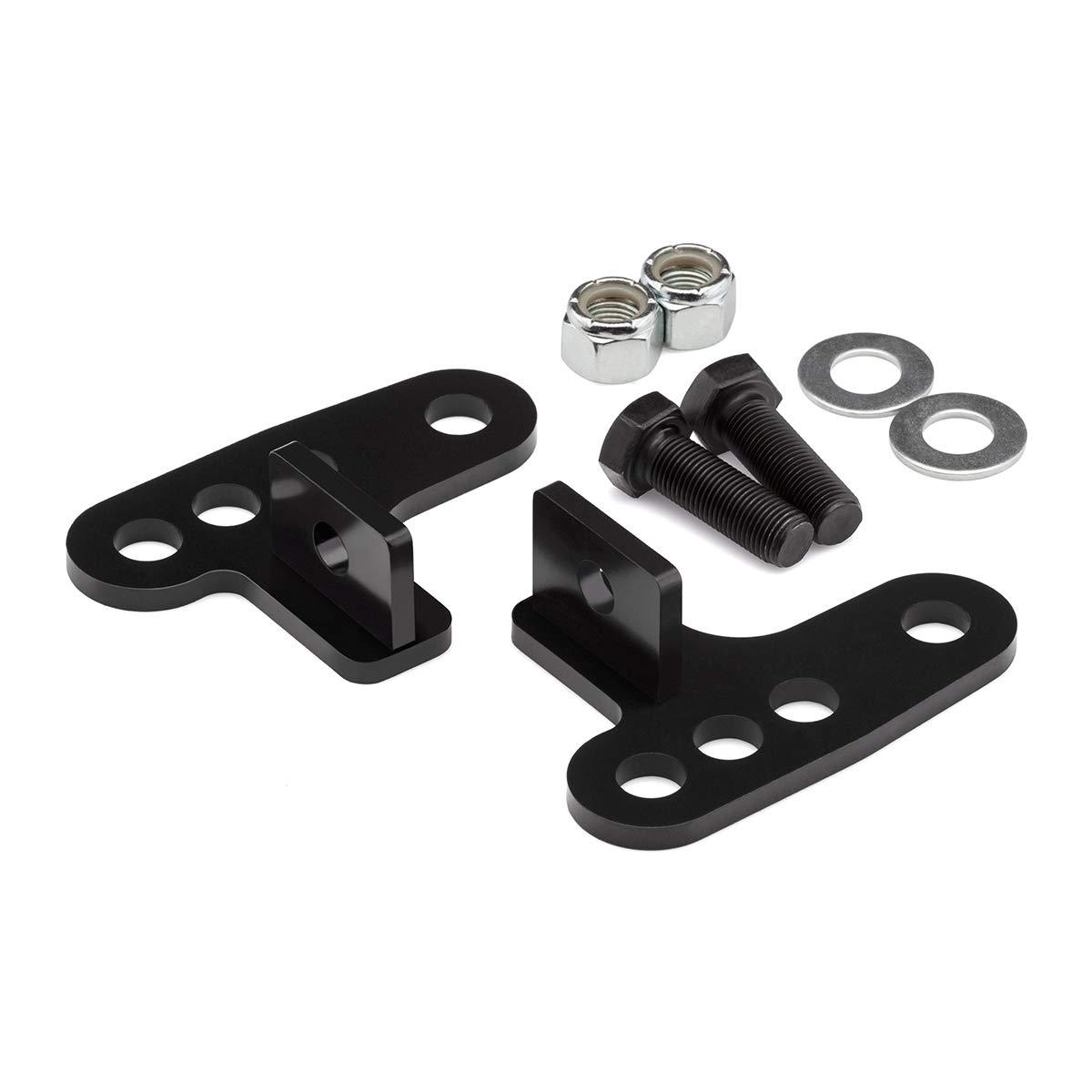 BlackPath - Harley-Davidson Adjustable 1'' + 2'' + 3'' Rear Lowering Link Kit Sportster 883 + Sportster 1200 Motorcycle Drop Links (Black) High Carbon Steel