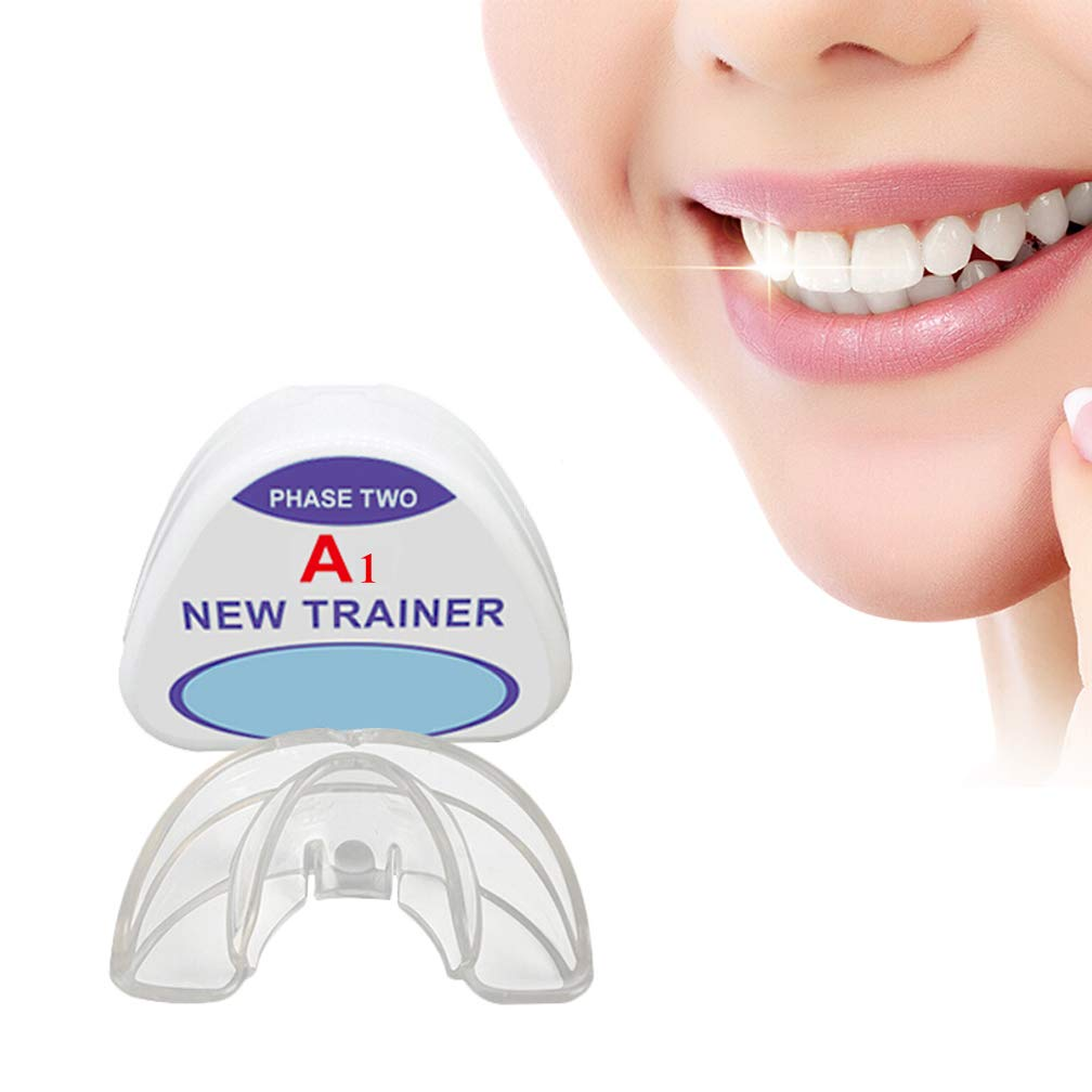 Orthodontic Retainer, Dental Orthodontic Braces, Night Dental Mouth Guard Orthodontic Appliance, Storage Cases (2 Stages, Suitable For Different Tooth Conditions),A1