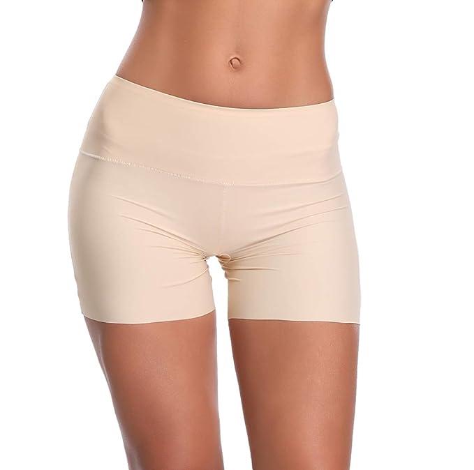 89e765b6efa Womens Shapewear Boyshort Seamless Shaper Panties Smooth Slip Short Panty  (Beige