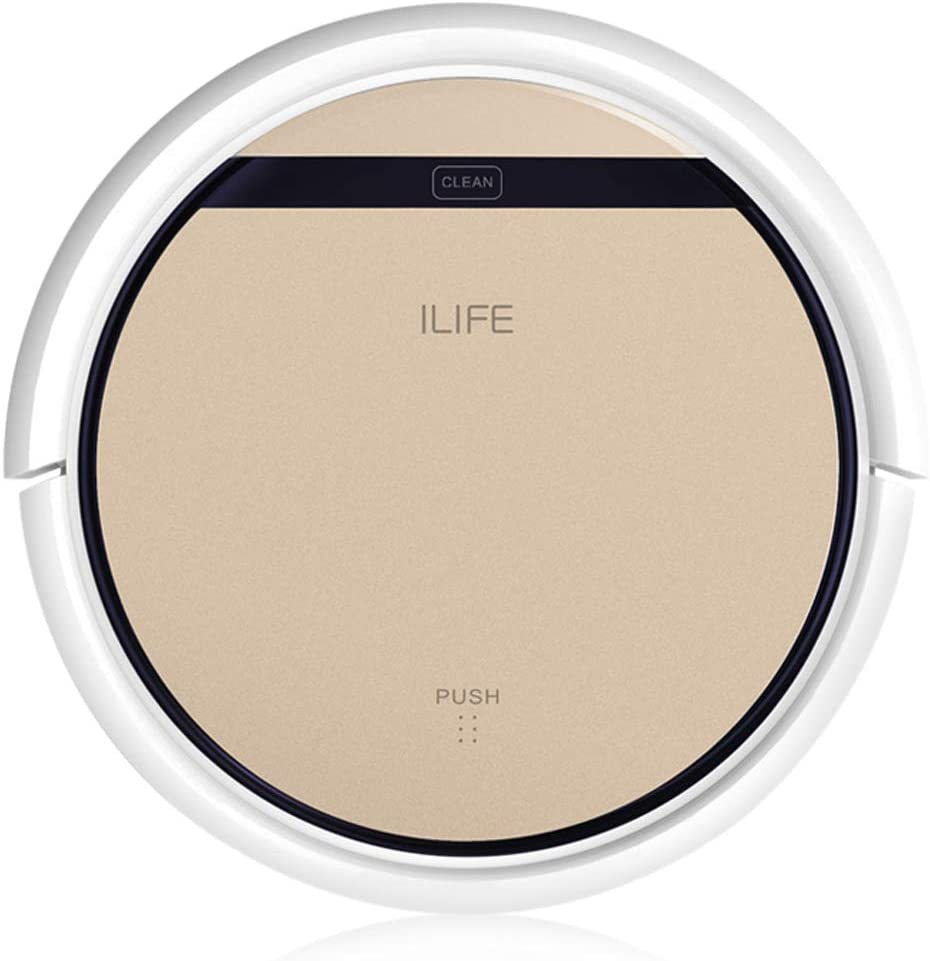 ILIFE V5S Pro Intelligent Robotic Vacuum Cleaner Wet and Dry Sweeping Cleaning Robot Machine Self-Charge Remote Control Robot Machine 2 in 1 Water Tank & Dust Collector Box UK Standard Plug