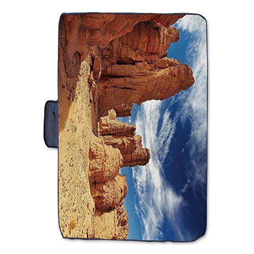 - TecBillion Desert Outdoor Picnic Blanket,Bizarre Sandstone Cliffs in Sahara Desert Tassili NAjjer Algeria Mat for Picnics Beaches Camping,50