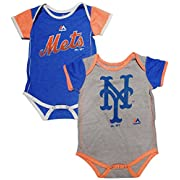 New York Mets Baby / Infant 2 Piece Creeper Set 0-3 Months