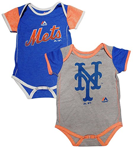 New York Mets Baby / Infant 2 Piece Creeper Set 24 Months