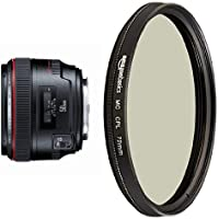 Canon EF 50mm f/1.2 L USM Lens for Canon Digital SLR Cameras - Fixed with Circular Polarizer Lens - 72 mm