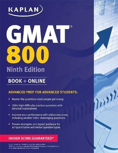 Pdf Test Preparation Kaplan GMAT 800: Advanced Prep for Advanced Students (Kaplan Test Prep)
